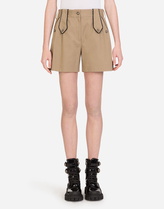 Dolce & Gabbana Drill Shorts With Military Details