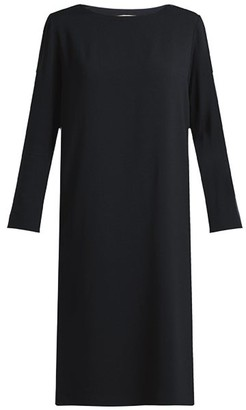 The Row Larina Crepe Tunic Dress - Black