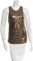 Gryphon Sleeveless Sequined Top