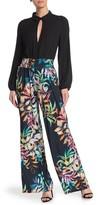 Joseph Ribkoff Tropical Floral Print Wide Leg Pants