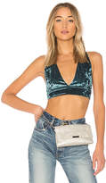 Lovers + Friends x REVOLVE Elisa Crop in Turquoise. - size L (also in M,S,XL,XS,XXS)