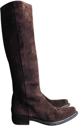 Prada Brown Suede Boots