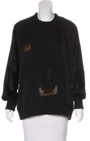Givenchy Silk & Velvet Panther Sweatshirt