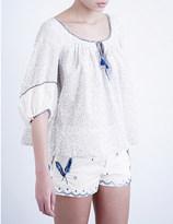 Thierry Colson Evita cotton-voile top