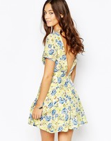 Goldie Leap Of Faith Skater Dress With Open Back