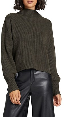 A.L.C. Helena Ribbed Wool Cashmere-Blend Mockneck Sweater