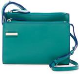 Lodis Audrey Double Zip Leather Shoulder Bag