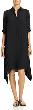 Halston Pleated Shirt Dress