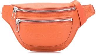 Kenzo Logo Embossed Zip Belt Bag