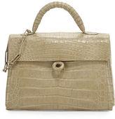 Nancy Gonzalez Crocodile Circle-Clasp Top-Handle Bag