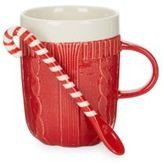 Twos Company Two's Company Sweater Mug and Candy Cane Spoon Set