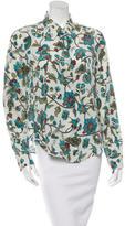 Loro Piana Silk Floral Print Blouse