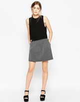 See by Chloe Stripe Mini Skirt