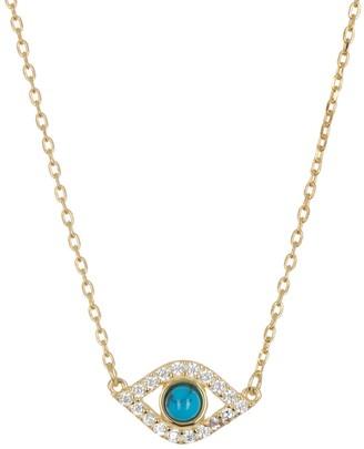 ADORNIA Evil Eye Station Necklace