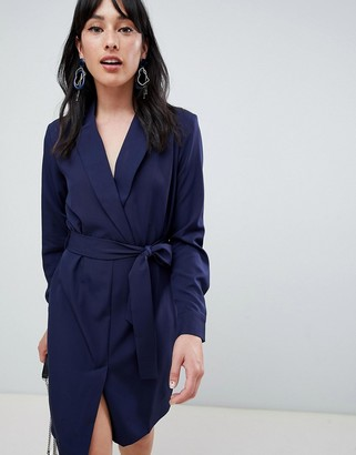 UNIQUE21 Unique 21 tailored belted wrap dress