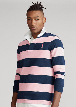 Ralph Lauren Pink Pony Custom Slim Fit Rugby Shirt