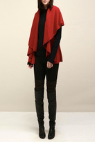Look by M Basic Red Shawl Vest