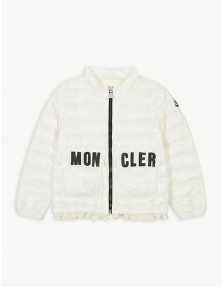 Moncler Violette logo nylon coat 4-14 years