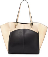 Neiman Marcus Luna Colorblock Geo Tote Bag