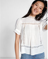 Express high neck short sleeve top