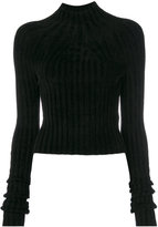 Helmut Lang ribbed chenille jumper - women - Polyester/Viscose - XS