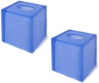 Jonathan Adler Blue Hollywood Tissue Box Bundle