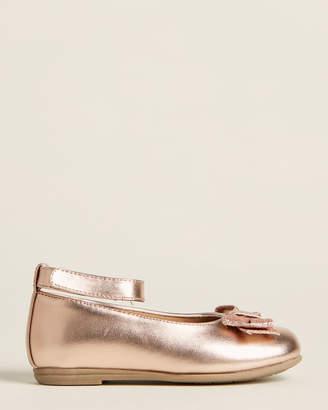 Rachel Toddler Girls) Rose Gold Lil Jacqueline Ankle Strap Flats