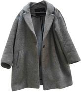 Designers Remix Grey Wool Coat for Women