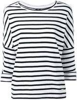 Woolrich three-quarters sleeve striped jumper