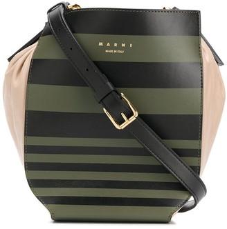 Marni striped bucket bag