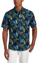 Cubavera Men's Printed Rayon Hawaiian Shirt