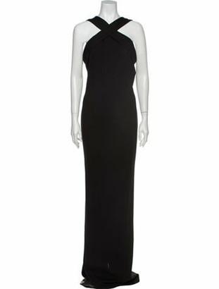 Nicholas Halterneck Long Dress Black