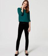 LOFT Petite Tipped Skinny Velvet Pants