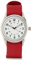 Forever 21 Canvas-Strap Analog Watch