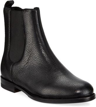 Manolo Blahnik Chelsea Leather Gored Booties