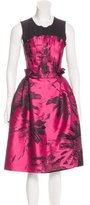 Behnaz Sarafpour Brocade A-Line Dress