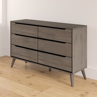 Mercury Row Stalter 6 Drawer Double Dresser Color: Gray