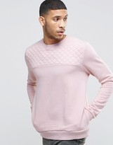 Kubban Quilted Panelled Sweater