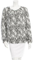 L'Agence Silk Printed Blouse