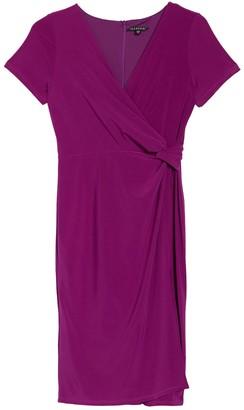 Onyx Nite Ity Ruched Wrap Dress