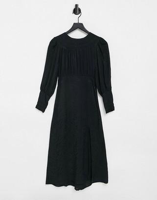 Topshop midi dress in black