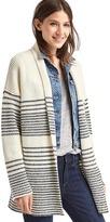 Gap Merino wool blend gradient stripe shaker cardigan