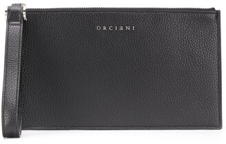 Orciani Pebble Texture Zipped Wallet