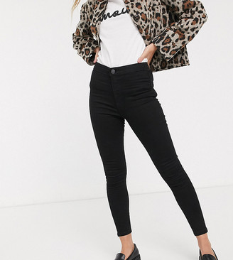 Miss Selfridge Petite skinny jeans in black