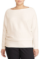 Lauren Ralph Lauren Plus Cotton-Blend Dolman Sweater