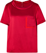 Marc by Marc Jacobs Silk Top in Cabernet Red
