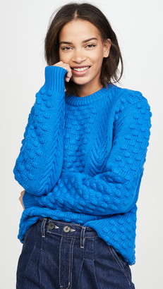 Tory Sport Chunky Merino Cable Knit Sweater