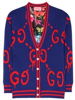 Gucci GucciGhost reversible wool and silk cardigan