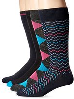 Perry Ellis Men's 4 Pack Soft Superior Luxury-Argyle Socks