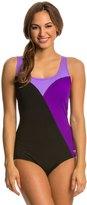 Speedo Color Block Comfort Strap One Piece Swimsuit 8138543